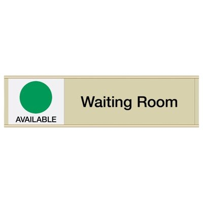 Waiting Room-Available/In Use - Engraved Facility Sliders