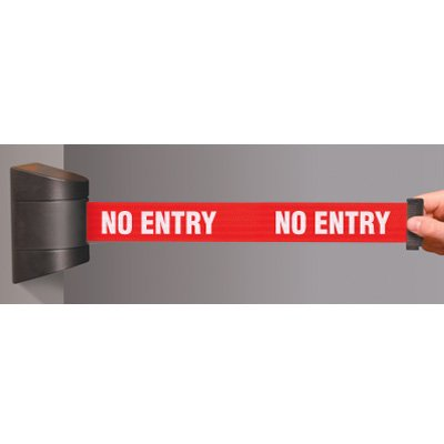 No Entry Wallmounted Tensabarrier 897-15-S-33-NO-RBX-C
