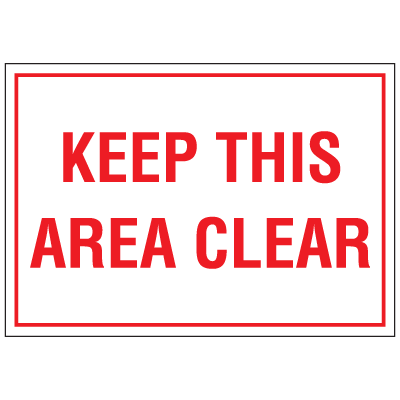 "Warehouse Floor Markers- ""Keep Area Clear"""