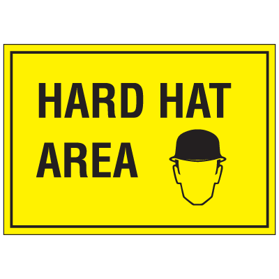 "Warehouse Floor Markers- ""Hard Hat"""