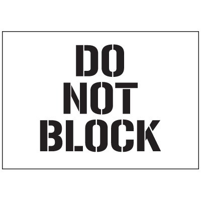 Warehouse Stencils - Do Not Block