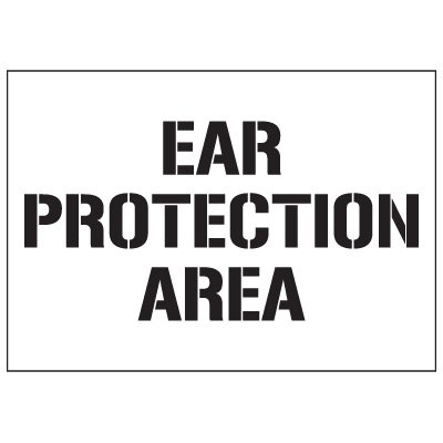 Warehouse Stencils - Ear Protection Area