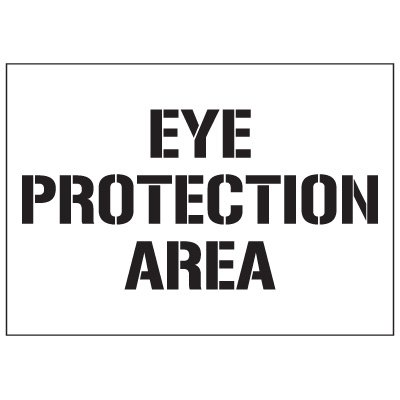 Warehouse Stencils - Eye Protection Area
