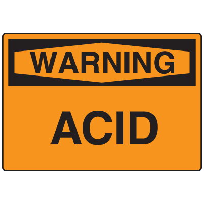 OSHA Warning Signs - Warning Acid