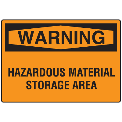 OSHA Warning Signs - Warning Hazardous Material Storage Area