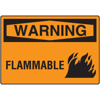 OSHA Warning Signs - Warning Flammable