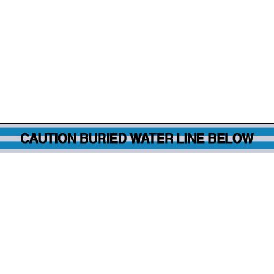 Water Line Underground Warning Tape