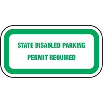 Washington State Handicap Signs - State Disabled Parking Permit