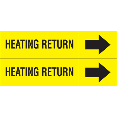 Weather-Code™ Self-Adhesive Outdoor Pipe Markers - Heating Return