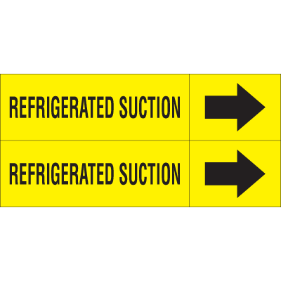 Weather-Code™ Self-Adhesive Outdoor Pipe Markers - Refrigerated Suction