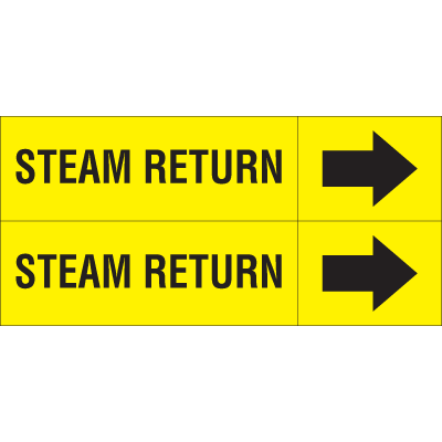 Weather-Code™ Self-Adhesive Outdoor Pipe Markers - Steam Return