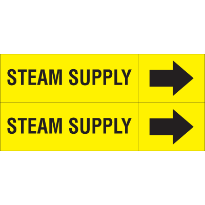 Weather-Code™ Self-Adhesive Outdoor Pipe Markers - Steam Supply