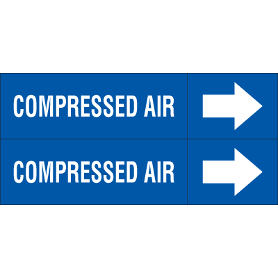Weather-Code™ Self-Adhesive Outdoor Pipe Markers - Compressed Air