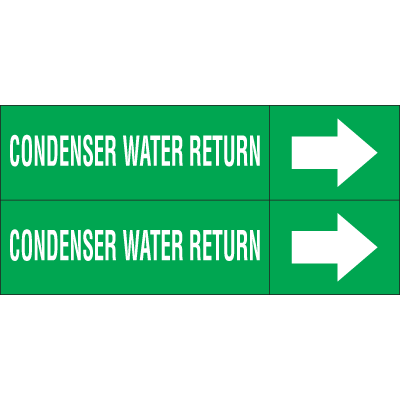 Weather-Code™ Self-Adhesive Outdoor Pipe Markers - Condenser Water Return