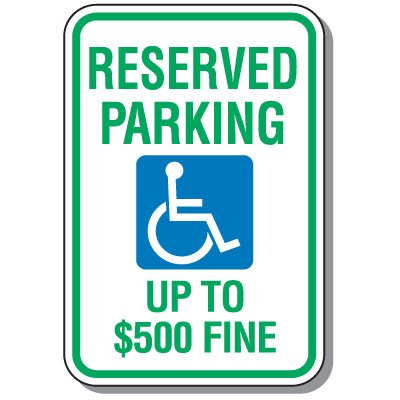 West Virginia State Handicap Signs - Reserved Parking