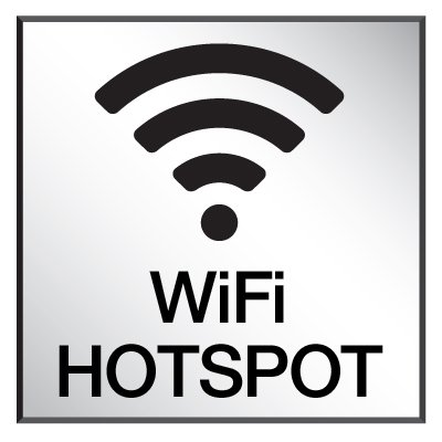 Wi-Fi Hotspot - Engraved Wi-Fi Signs