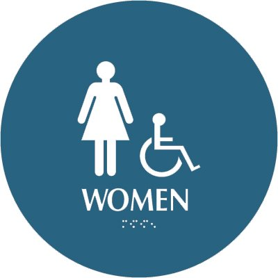 Women (Accessibility) - Optima California Code Restroom Signs
