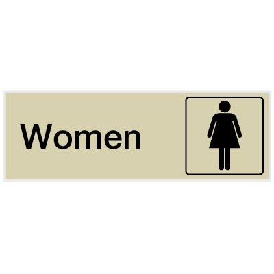 Women - Engraved Rest Room Signs