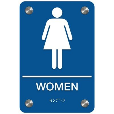 Women ADA Restroom Signs