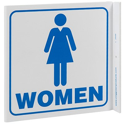 Women Restroom L-Style Sign