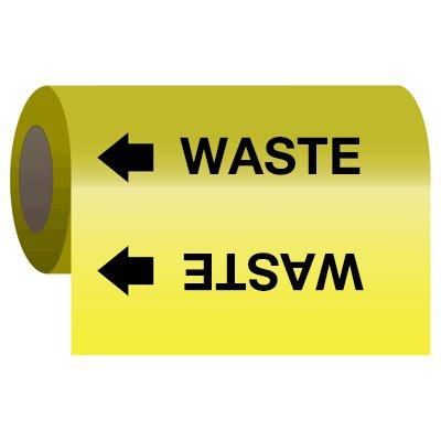 Wrap Around Adhesive Roll Markers - Waste