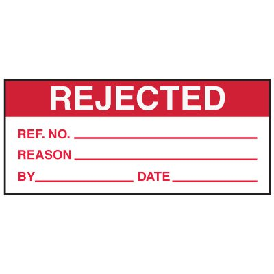Write-On Action Labels - Rejected