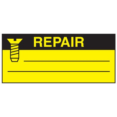 Write-On Action Labels - Repair