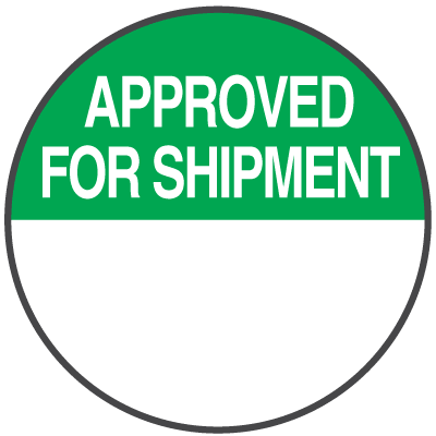 Approved For Shipment Write On Dots