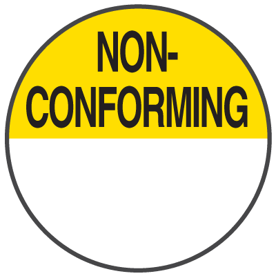 Non-Conforming Write On Dots
