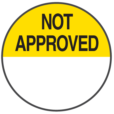 Not Approved Write On Dots
