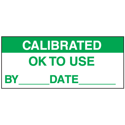 Calibrated Ok To Use By Date Write On Labels