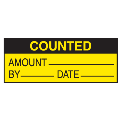 Counted Amount By Date Write On Labels