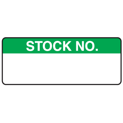 Stock No. Write On Labels On A Roll