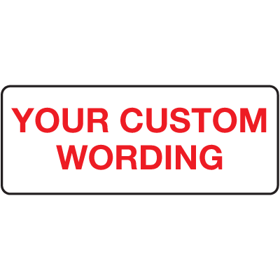 Custom Write On Labels On A Roll