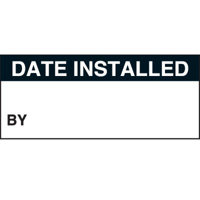 Date Installed Status Label