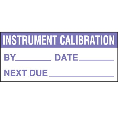 Instrument Calibration Status Label