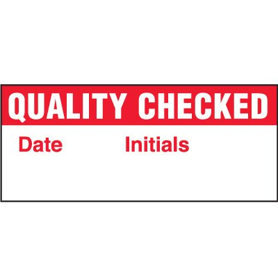Quality Checked Status Labels