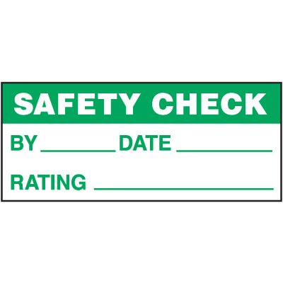 Safety Check Status Label