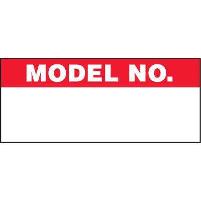 Model Number Status Label