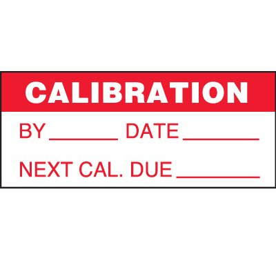 Calibration Status Label