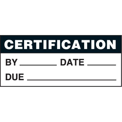 Certification Status Label