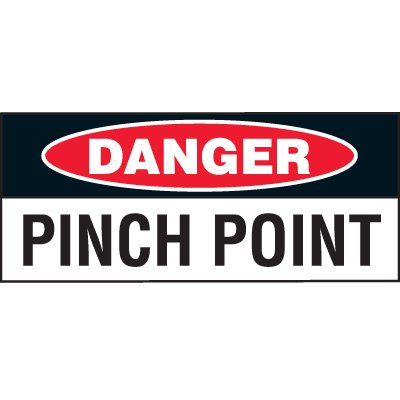 Danger Pinch Point Status Label