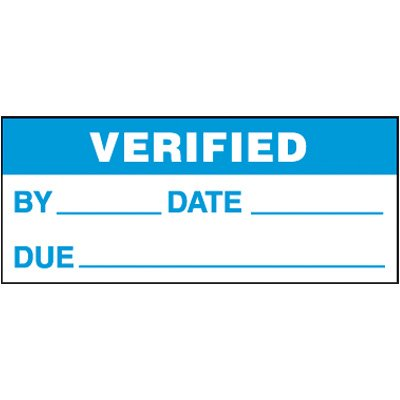 Verified Self-Laminating Status Labels
