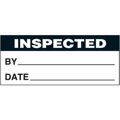 Inspected Self-Laminating Status Labels