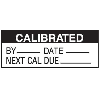 Calibrated By Date Due  Write On Status Labels