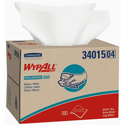 WYPALL® X60 Reinforced Wipers - Brag Box 180/Ct 34015