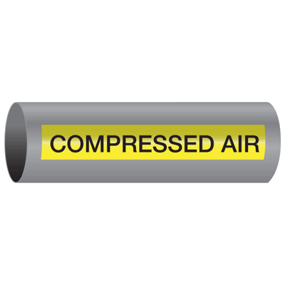 Xtreme-Code™ Self-Adhesive High Temperature Pipe Markers - Compressed Air