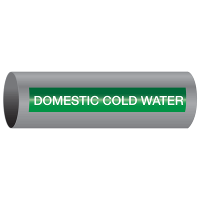 Xtreme-Code™ Self-Adhesive High Temperature Pipe Markers - Domestic Cold Water