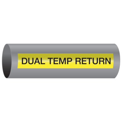 Xtreme-Code™ Self-Adhesive High Temperature Pipe Markers - Dual Temp Return