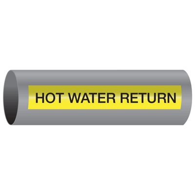 Xtreme-Code™ Self-Adhesive High Temperature Pipe Markers - Hot Water Return